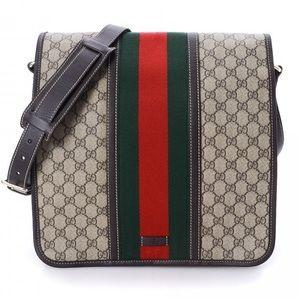 Gucci Coated Canvas Classic Stripe Messenger Bag